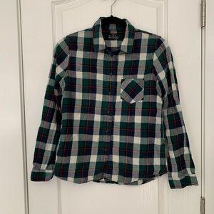 Madewell Green Flannel Shirt S